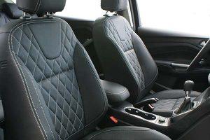 Ford Kuga Buffalino Leder Zwart Diamond Stiksel Voorstoelen