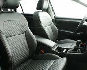 Skoda Superb Alba eco-leather Zwart Diamond Stiksel Voorstoelen